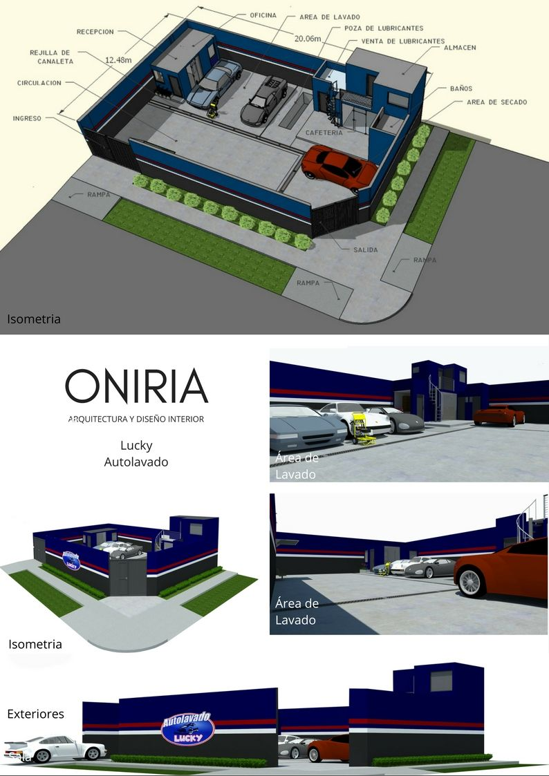Interior Detailing Near Me >> Diseños de Autolavados o Car Wash realizados por Oniria Arquitectura : 1.- Car Wash TD Pros Peru ...
