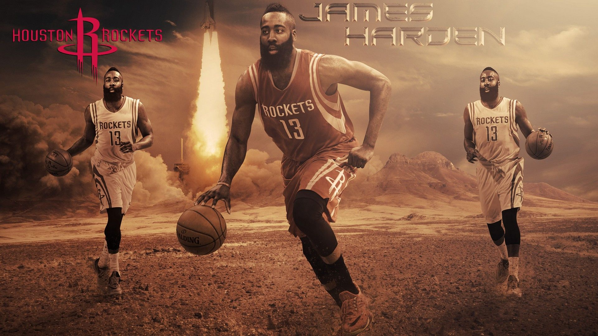 Hd Desktop Wallpaper James Harden James Harden Nba Wallpapers Houston Rockets