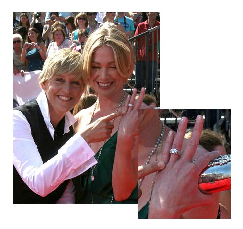 Ellen Portia S Wedding Al. Ellen Degeneres Wedding Ring ...