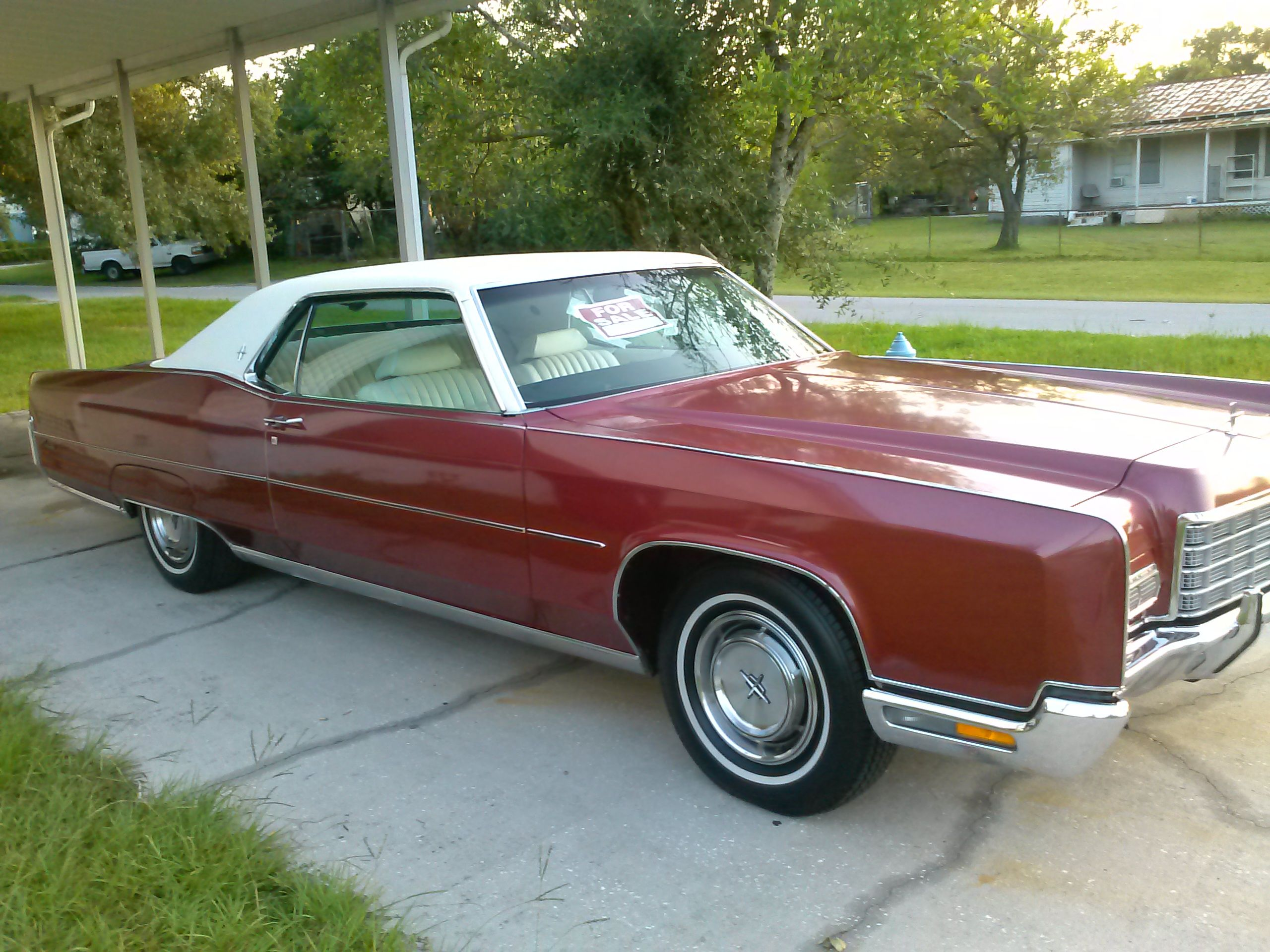 1972 lincoln continental red coupe lincoln. Black Bedroom Furniture Sets. Home Design Ideas