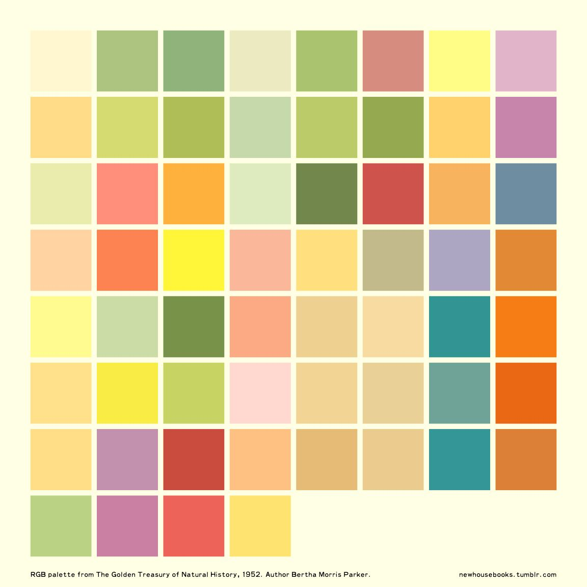 Book for color theory - Newhousebooks Golden Books 1952 Color Palette Ai File