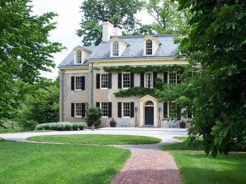 Federal House With Symmetry And Multiple Chimneys Beautiful Homes House Exterior House