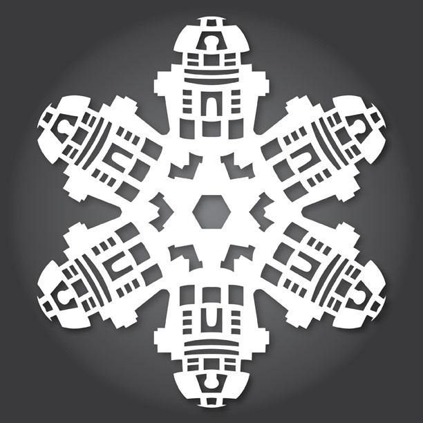 How To  Free Paper Snowflake TemplatesStar Wars Style