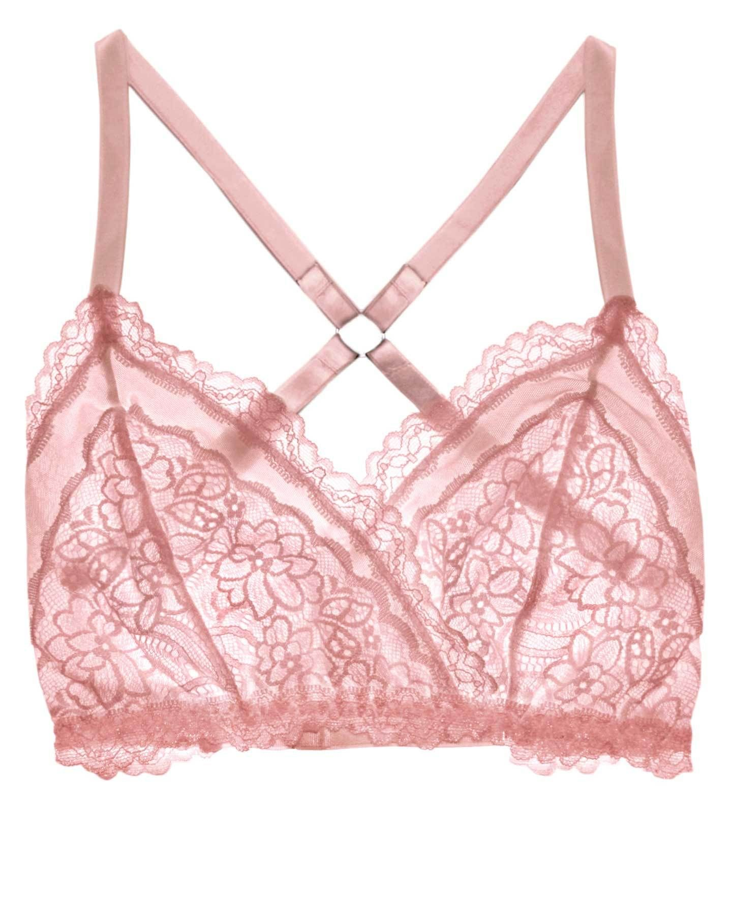 8877e8a190 Lacey Easy Fit Bralette - Rose Quartz - Uye Surana