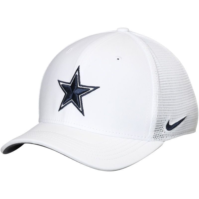 696faf189 Dallas Cowboys Nike Energy XC Swoosh Performance Flex Hat - White ...