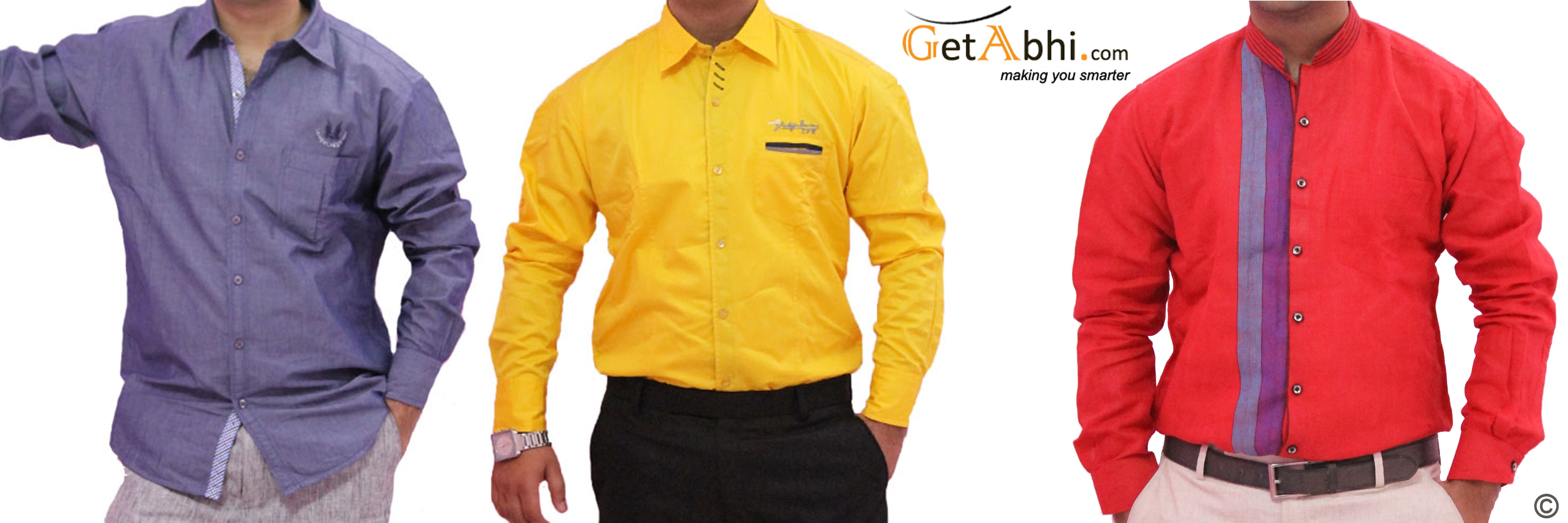 Casual and Party Wear Shirts for men! Latest and Exclusive Designs.   Stylish Shirts for men! Buy online on www.GetAbhi.com and pay cash on delivery.