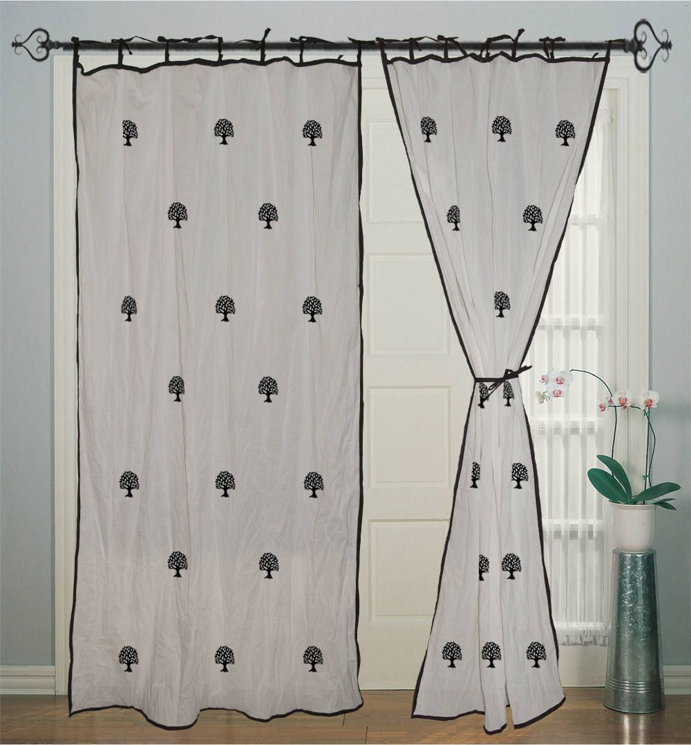 Cotton curtains window white curtains decor housewares panel
