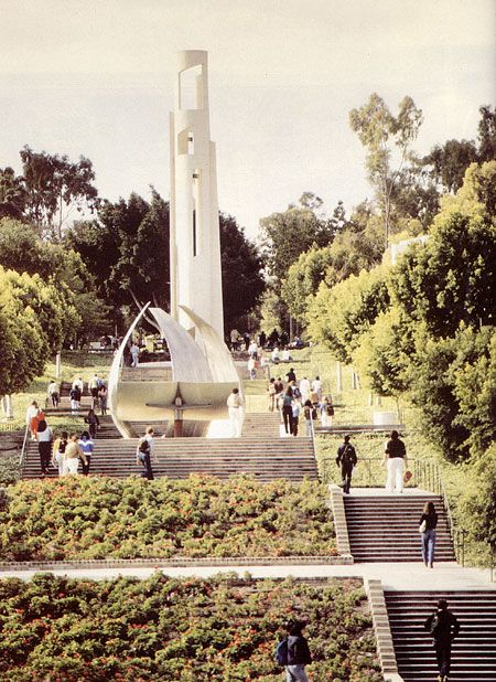 Csulb Historical Site View Of The Carlson Bloc Bell Tower 1986