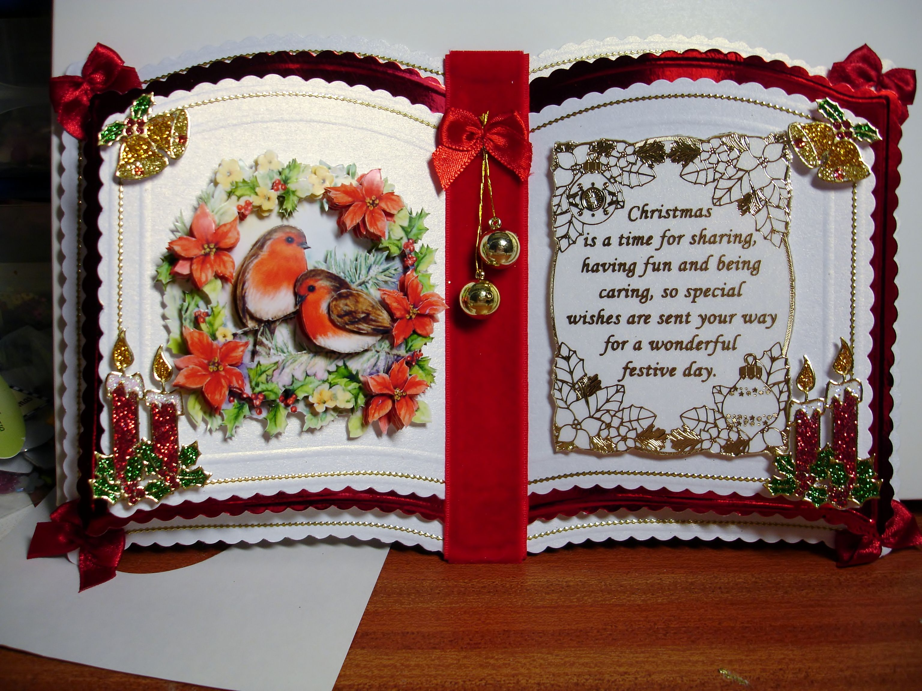 Bookatrix Christmas Cards Handmade Cards Embossed Cards