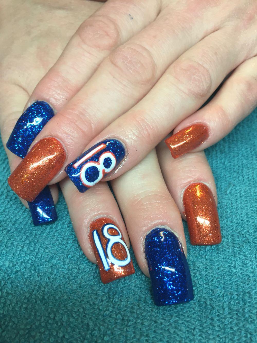 Denver #Broncos #nails   Love doing my nails   Pinterest   Denver ...