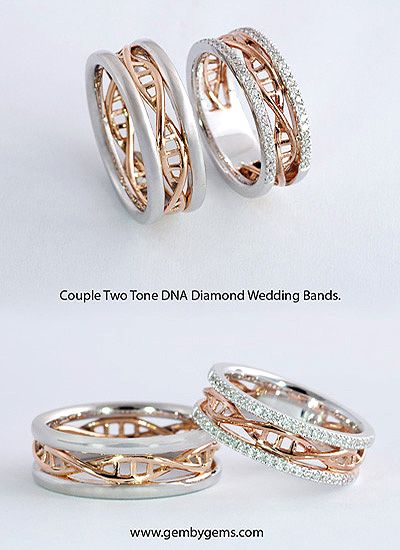 ca dna bands couple bird il unique polished rings listing love custom wedding