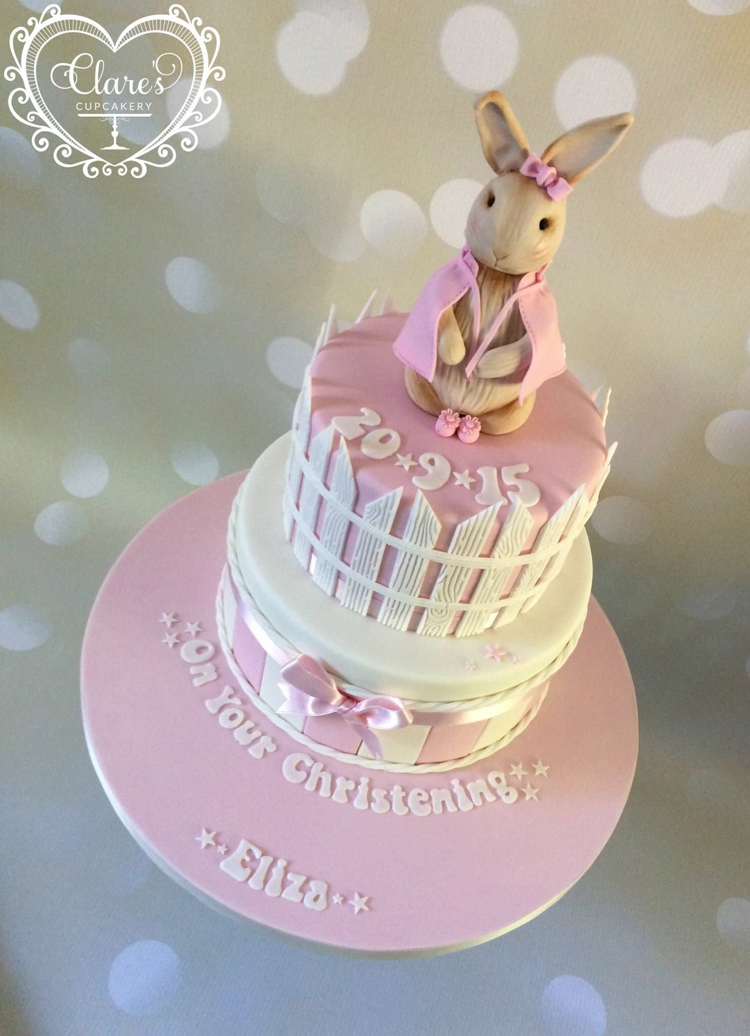 Girls Peter Rabbit Christening Cake With Images