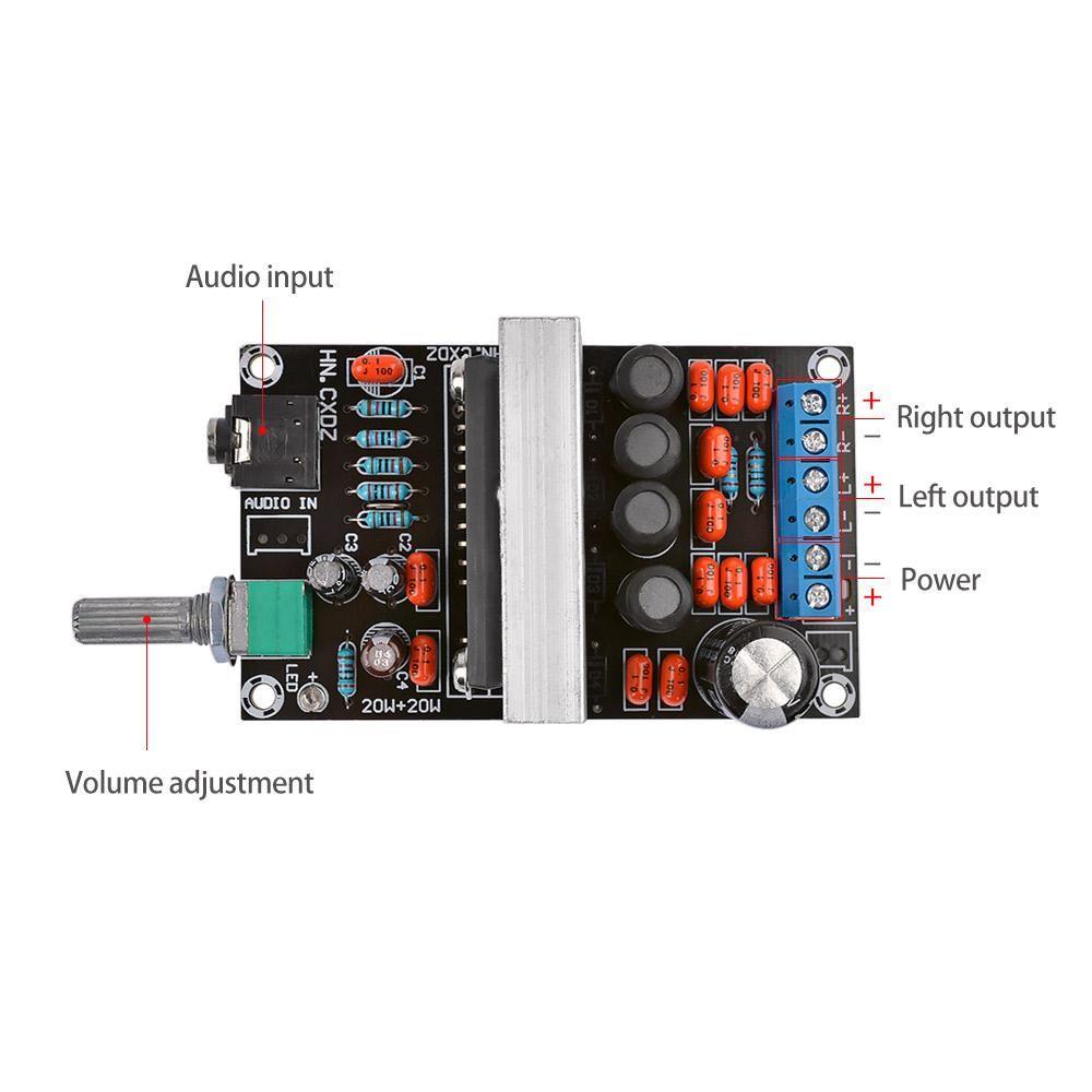 TA2020 Audio Amplifier Board 20W*2 Class T Stereo 2 0