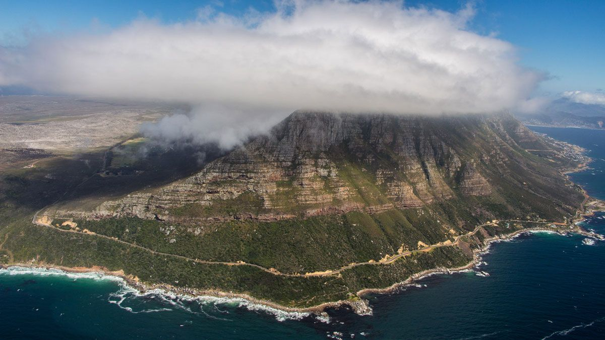 Cape Town in a helicopter
