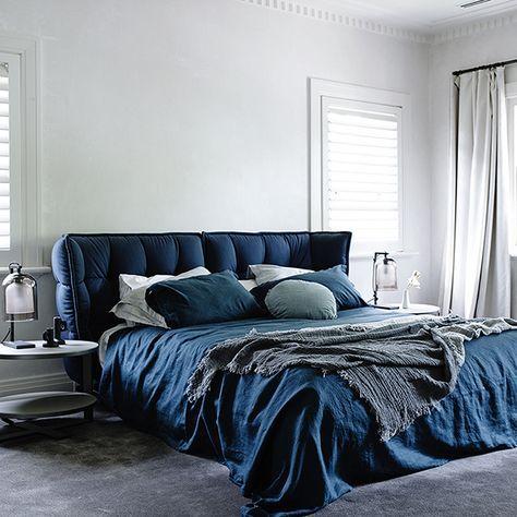 Blau Betthaupt & Wäsche (mit Bildern