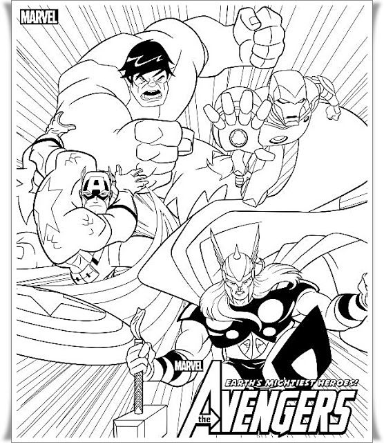 New Avengers Coloring pages in 2020 (With images ...