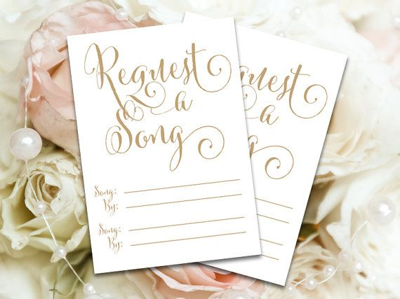 Add These Song Request Cards To Your Special Occasion Wedding Pinterest Songs And