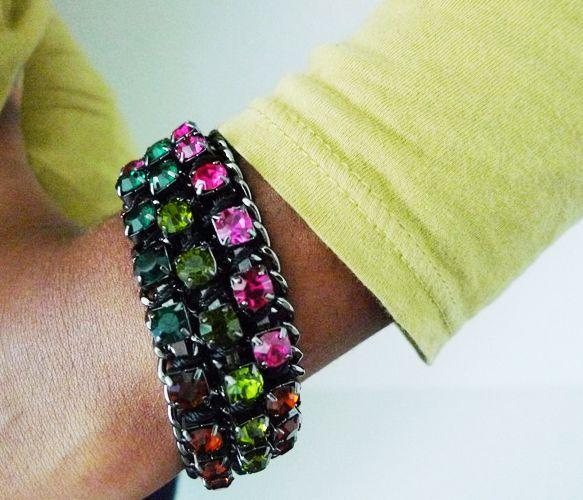 Multi Rhinestone Bracelet