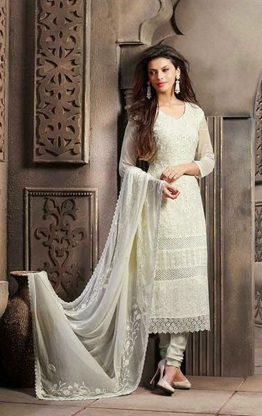 d30be744ee Picture of Magnificent Off White Color Chiffon Salwar Kameez ...