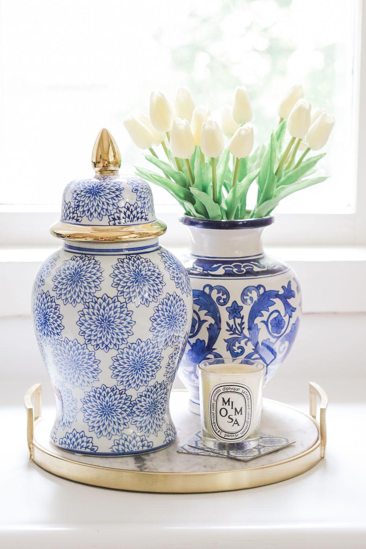 Amazon Home Decor Finds Blue And White Ginger Jars Under 100 White Ceramic Vases White Ginger Jars Ginger Jars Decor Blue and white vases cheap