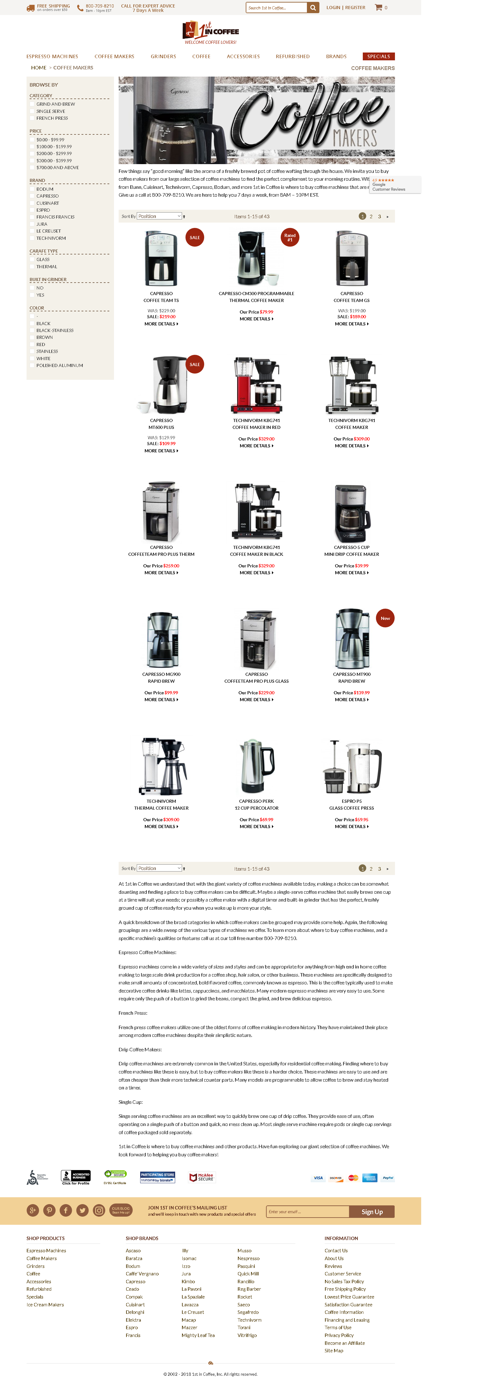 Coffee Makers At 1st In We Understand That With The Giant Variety Of Machines