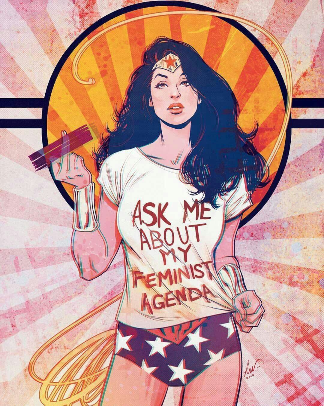 Wonder Woman Ask Me About My Feminist Agenda 3 iphone case
