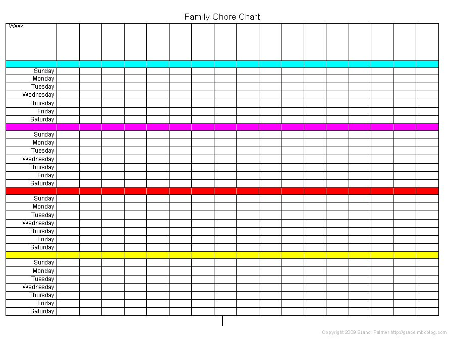 Chore Charts For Multiple Children  Organization
