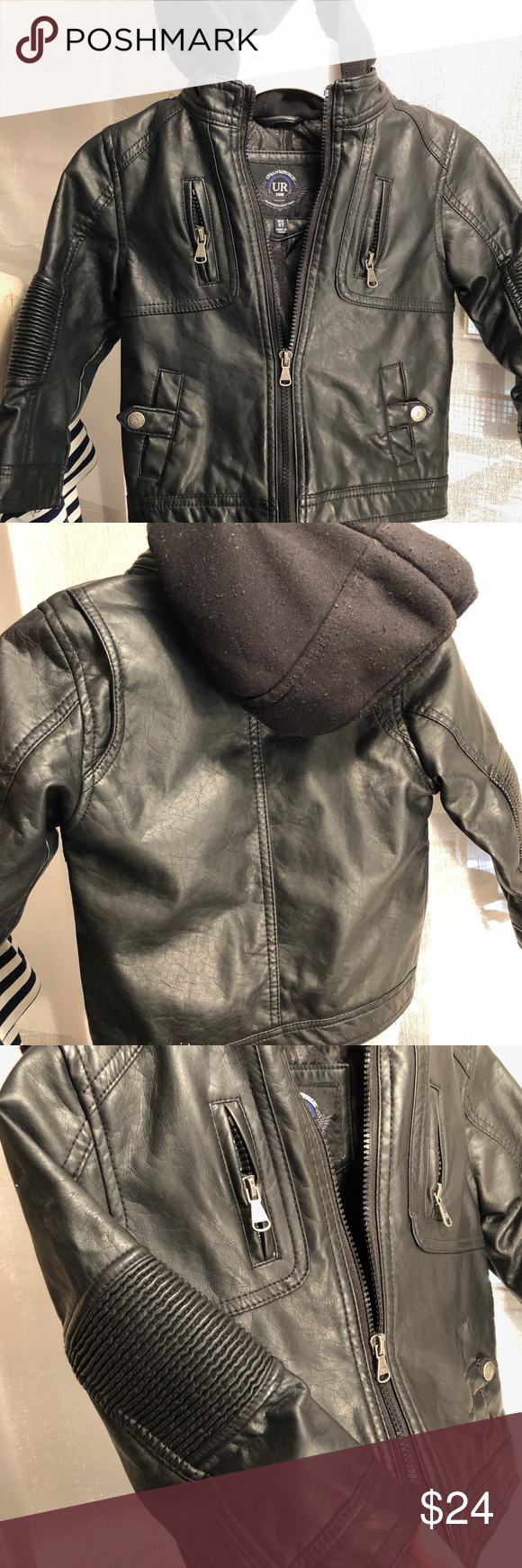 Toddler 3t Boys Hooded Moto Jacket Great Jackets Moto Jacket Hooded Faux [ 1740 x 580 Pixel ]