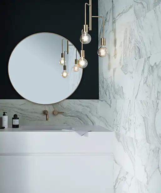 Penteli Tile 60cm X 60cm In 2020 Topps Tiles Bathroom Wall Tile Polished Porcelain Tiles