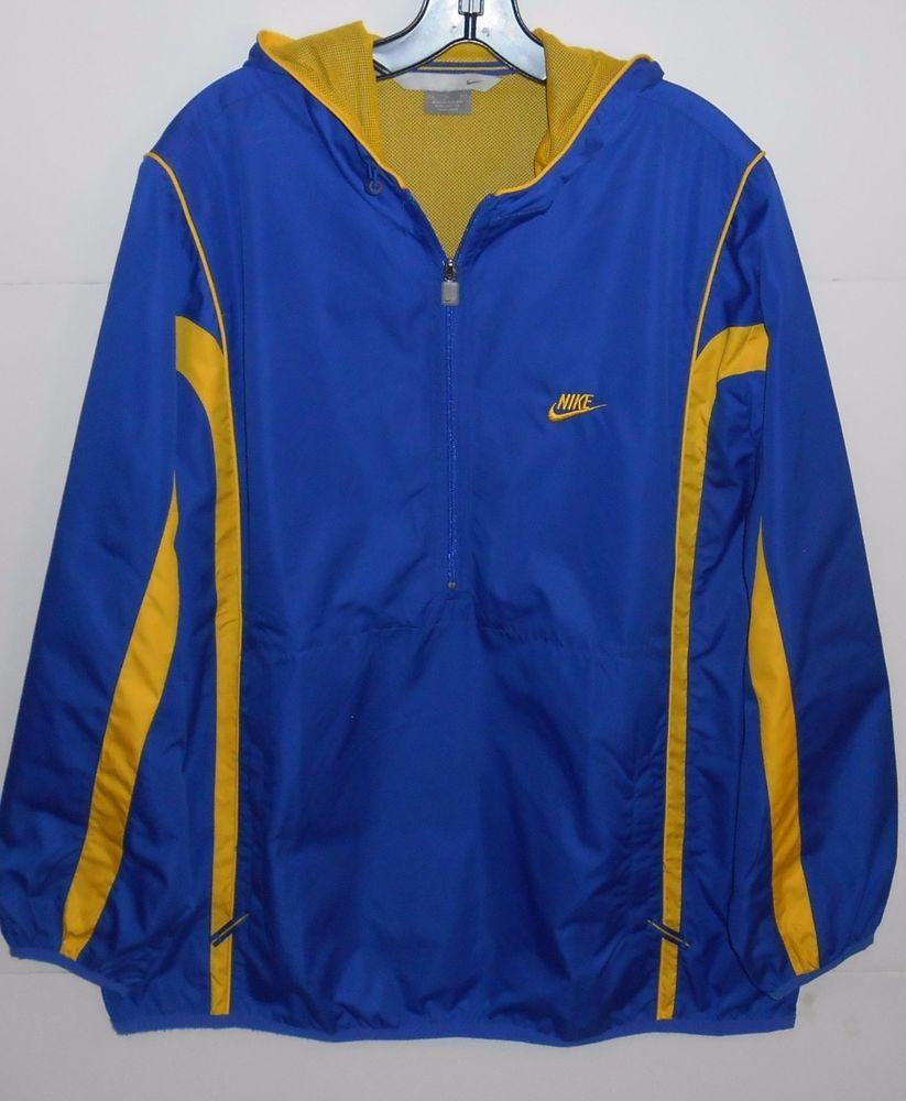6698b6d6c560 Nike Half Zip Hoodie Blue Pullover Jacket 920220 KL4 Men s Size XL  Nike   CoatsJackets