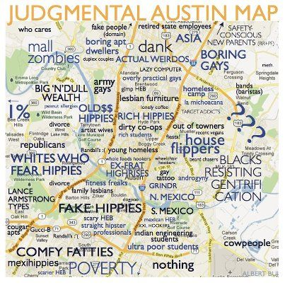 Judgmental Austin Map. I live in \
