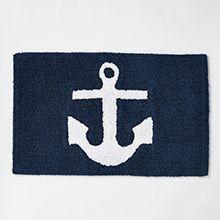 Anchor Floor Mat | Bath mat, Nautical bathrooms, Bathroom ...