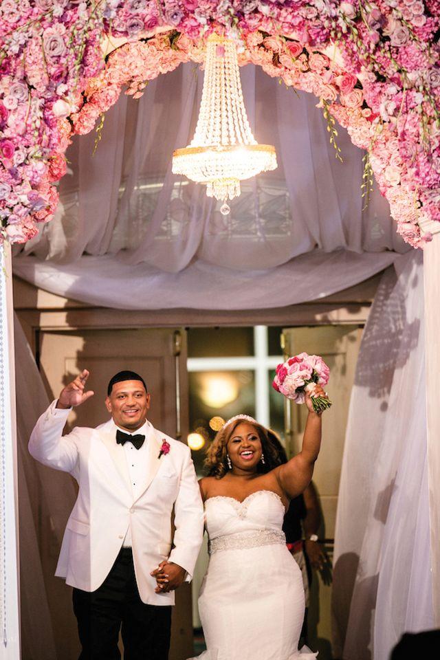 Vibrant Pink Wedding In Mobile Al Cherise Jacob Disney Princess Art American