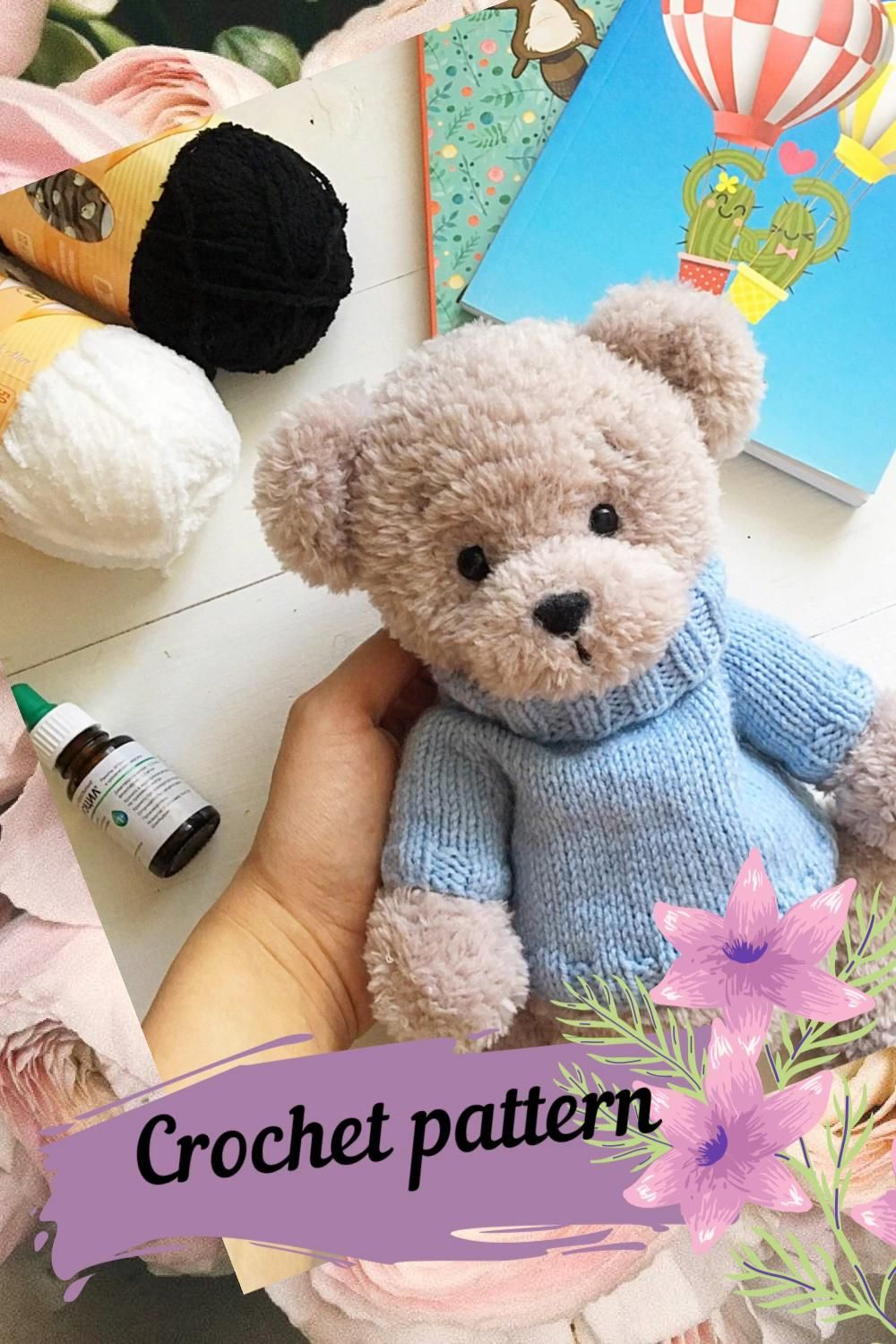 Crochet PATTERN Bear Plush bear tutorial Amigurumi animal | Etsy