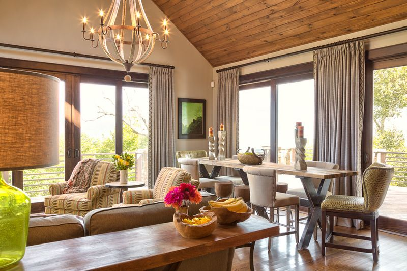 Rustic Dining Room by Dianne Davant and Associates Colorado Home