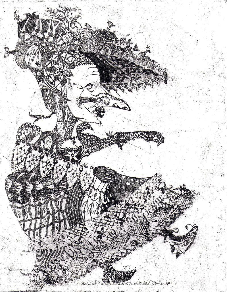 alti dante basler fasnacht radierung etching katinka