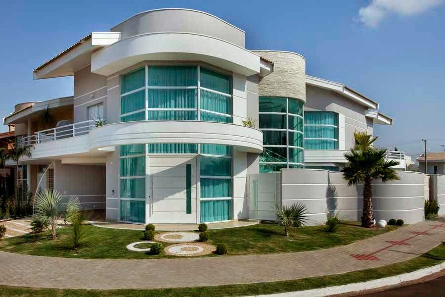 20 Fachadas de casas com linhas curvas tendência na