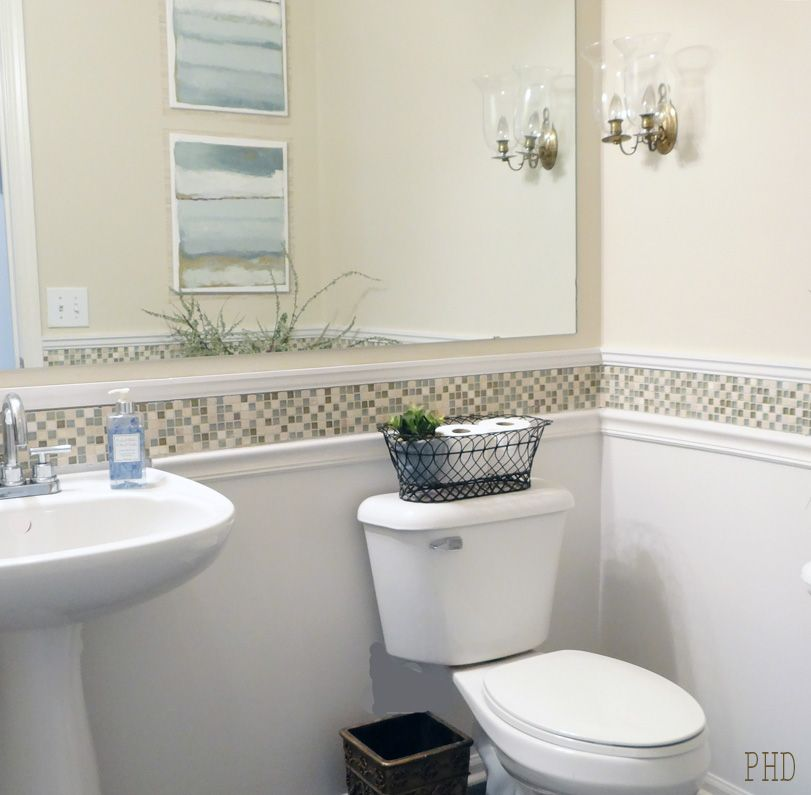 Bathroom Makeover Using Cream And Gray Colors Diy Bathroom Remodel Bathrooms Remodel Bathroom Makeover