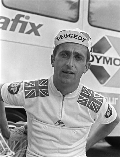 Tommy Simpson, a few hours before his death on Mount Ventoux (13 July 1967).