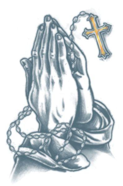 1fba9f7bf4f06 Praying Hands Cross Tattoo | tattoos | Praying hands tattoo, Hand ...