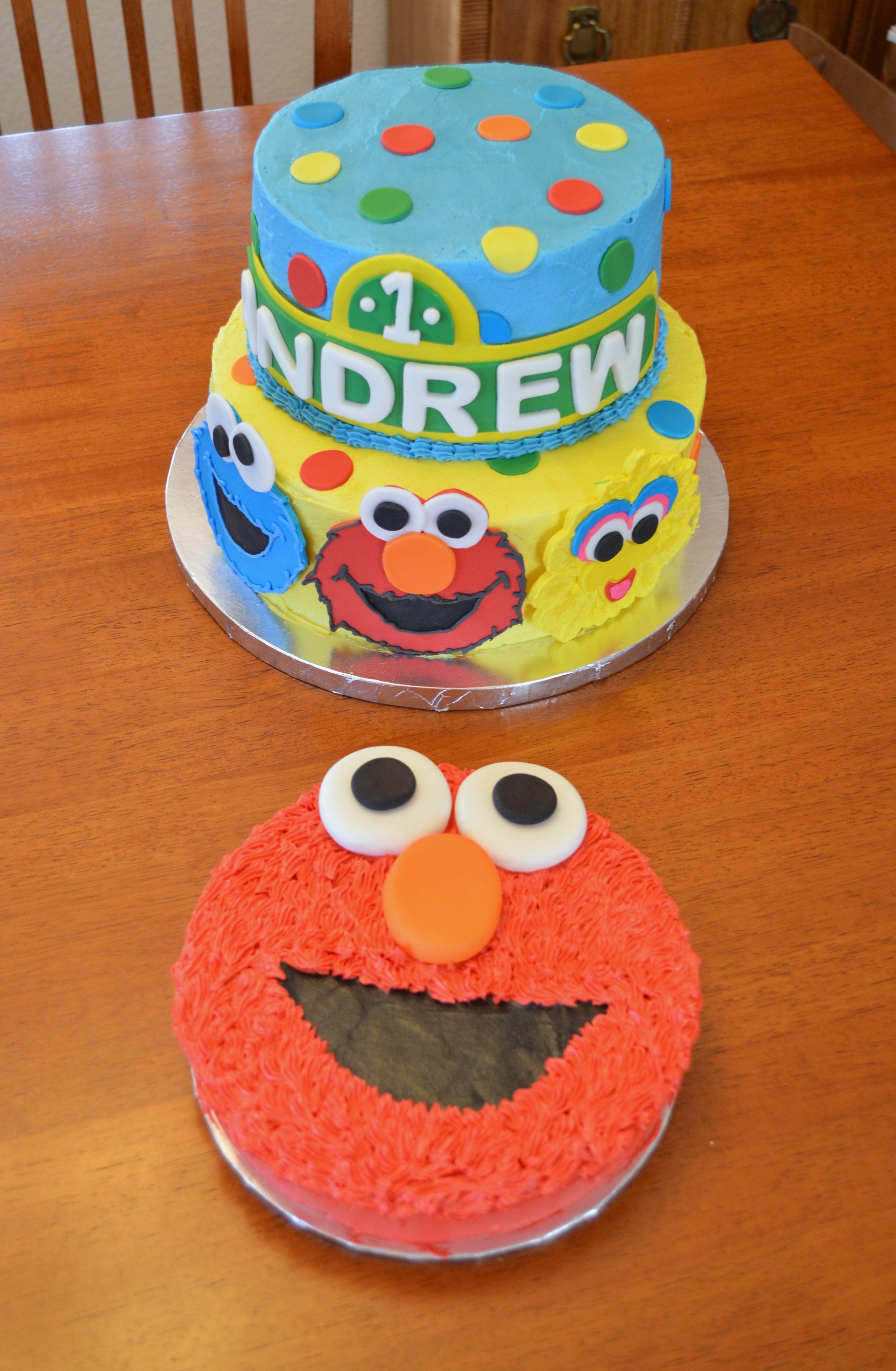 Sesame Street and Elmo smash cake Cakes Ive Decorated