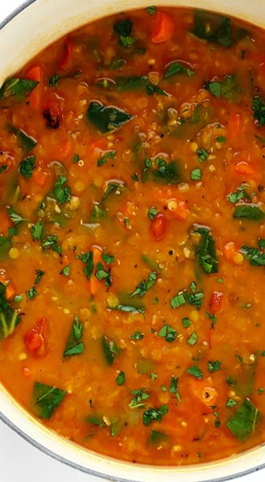 Italian Lentil Soup - would probably substitute spinach for collard greens