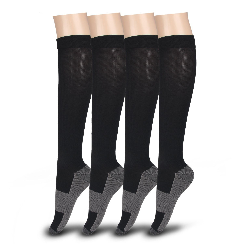 Compression Socks for Men Women Fit for Travel Running Hiking 20-30 mmHg