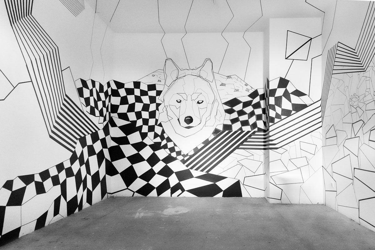 Tape Art meets Videomapping at Wolf Kino Berlin - Tape Art ...