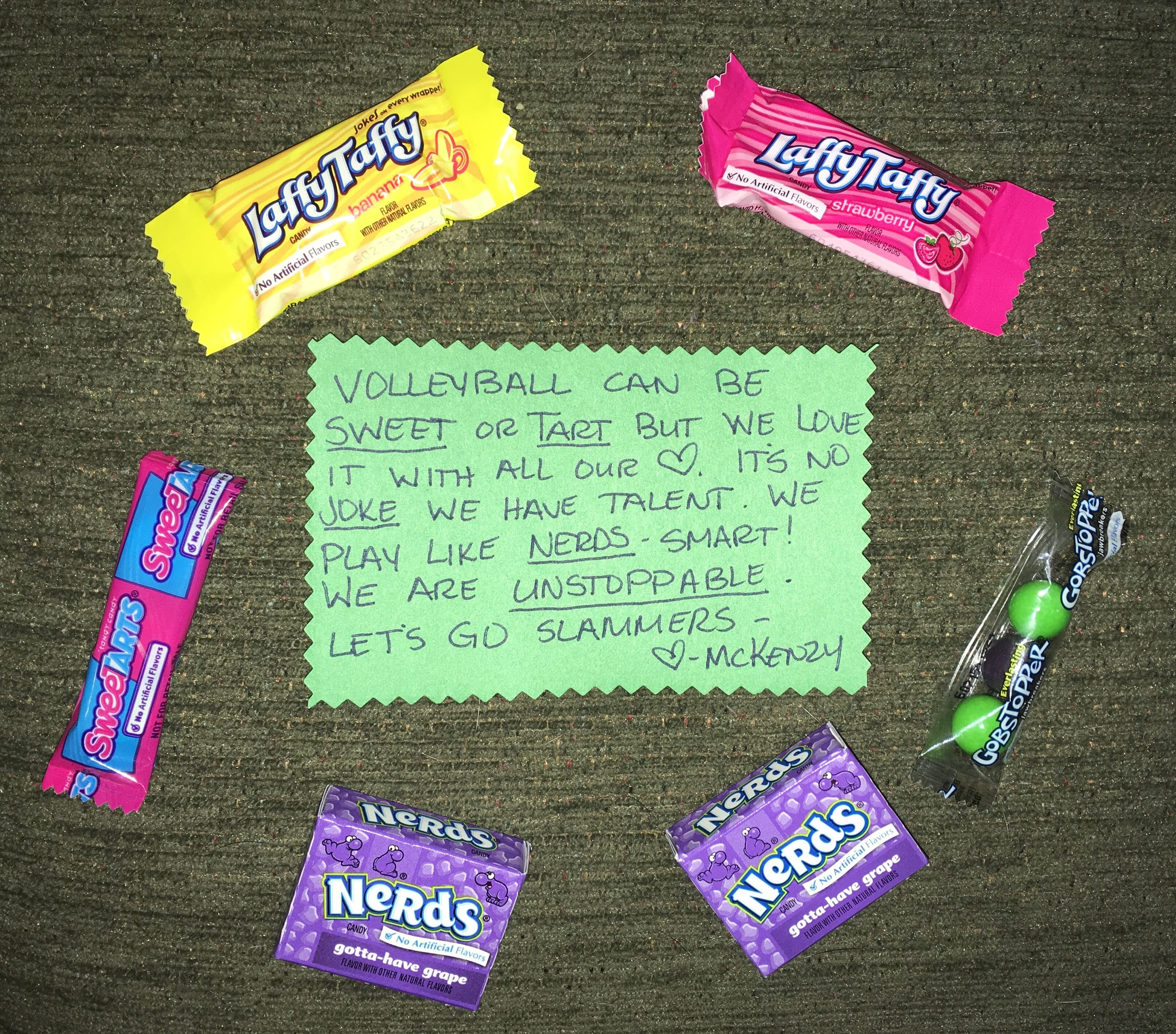 Sweettarts Laffy Taffy Nerds Gobstopper Candy Poem Volleyball Littlediggers2016 Candy Poems Candy Quotes Volleyball Quotes