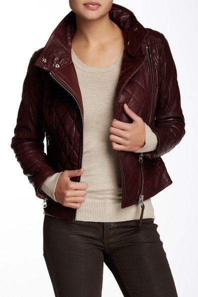 Federica Quilted Moto Leather Jacket