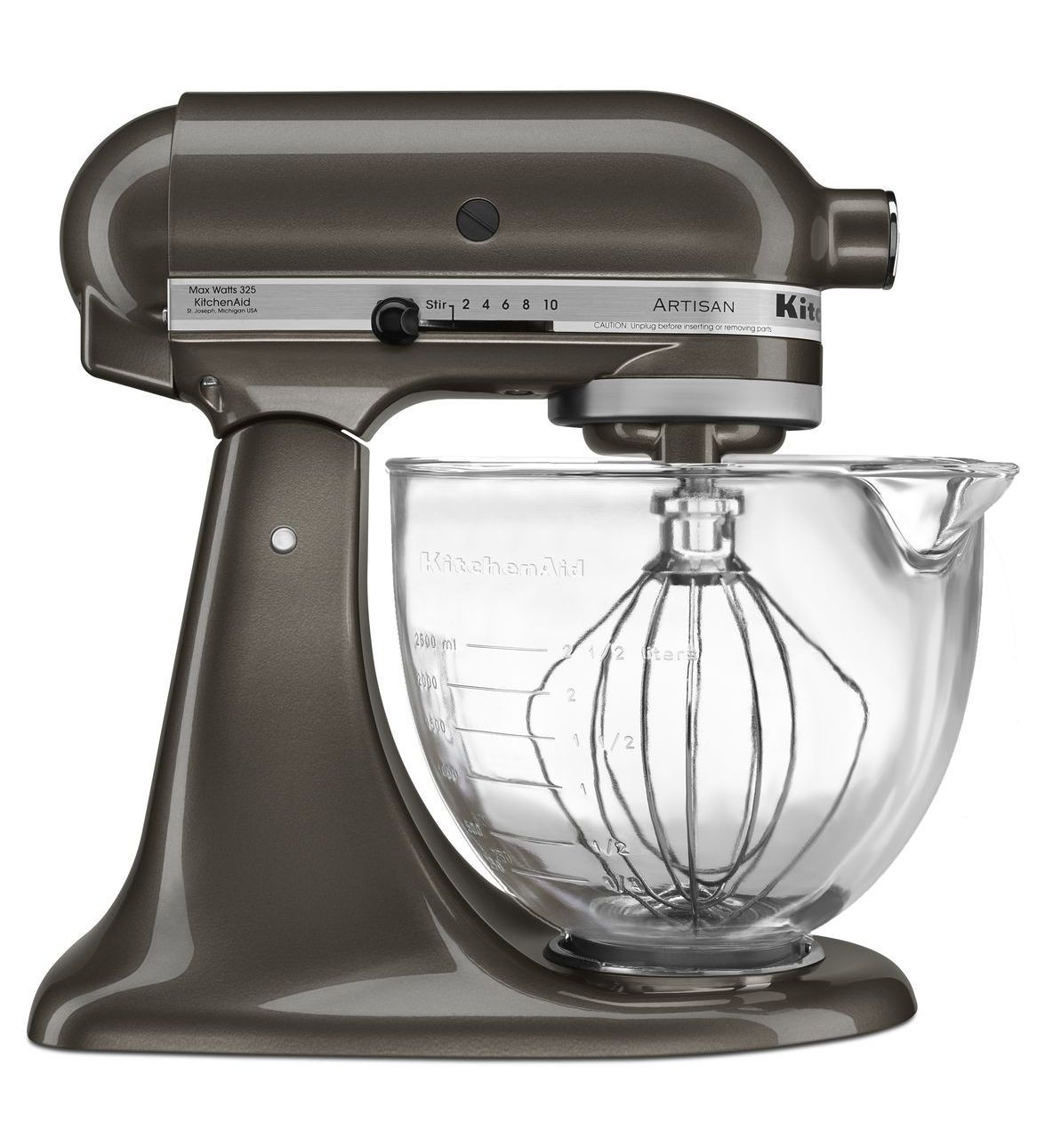 Artisan® Design Series 5-Quart Tilt-Head Stand Mixer with Glass Bowl ...