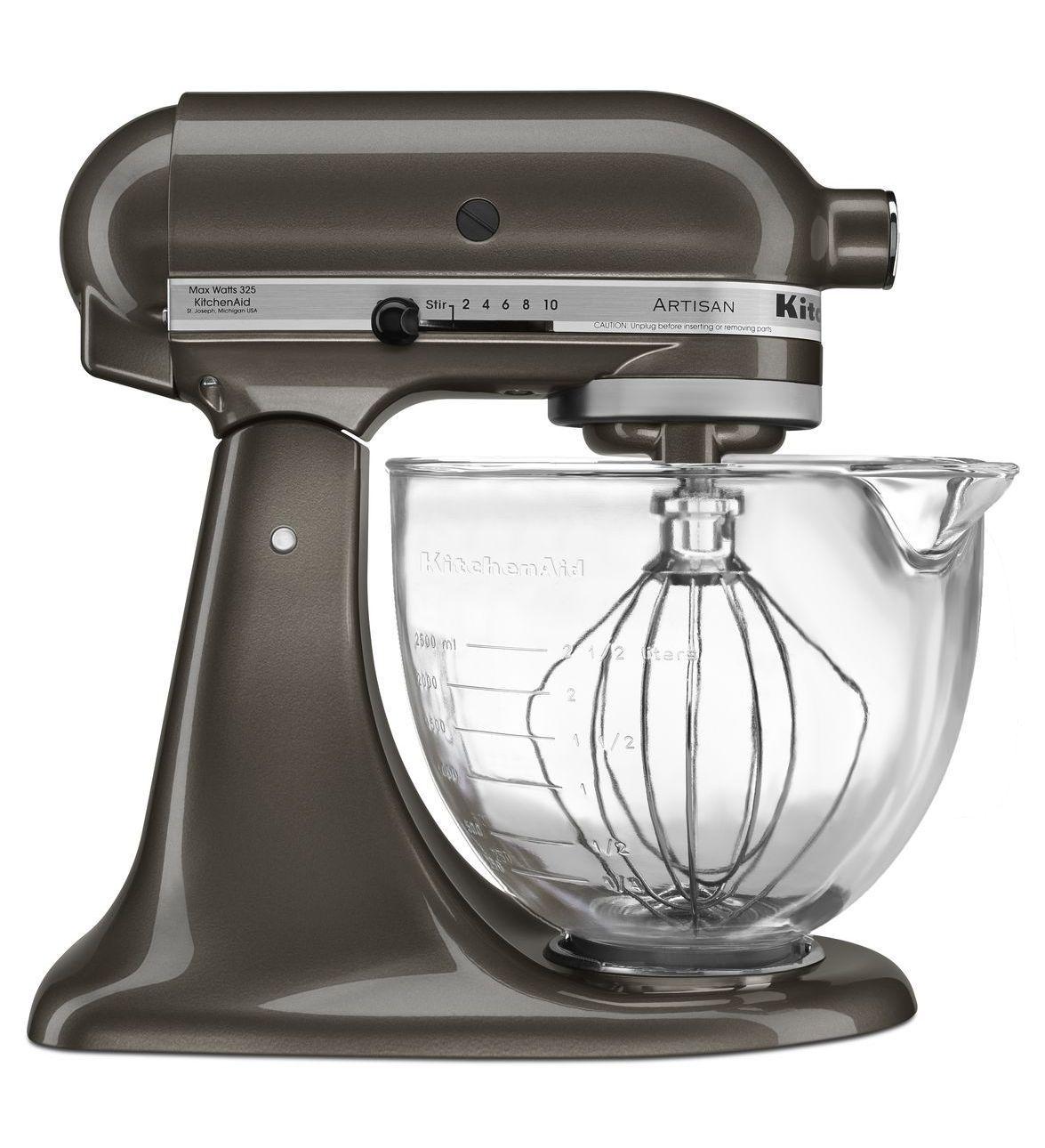 artisan design series 5 quart tilt head stand mixer with glass bowl rh pinterest com