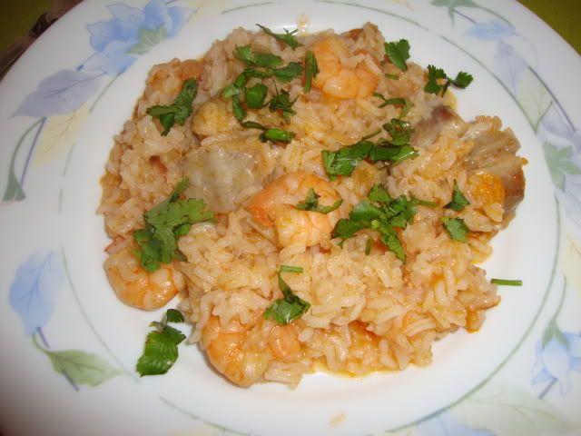 Uma refeição saudável – arroz de tamboril