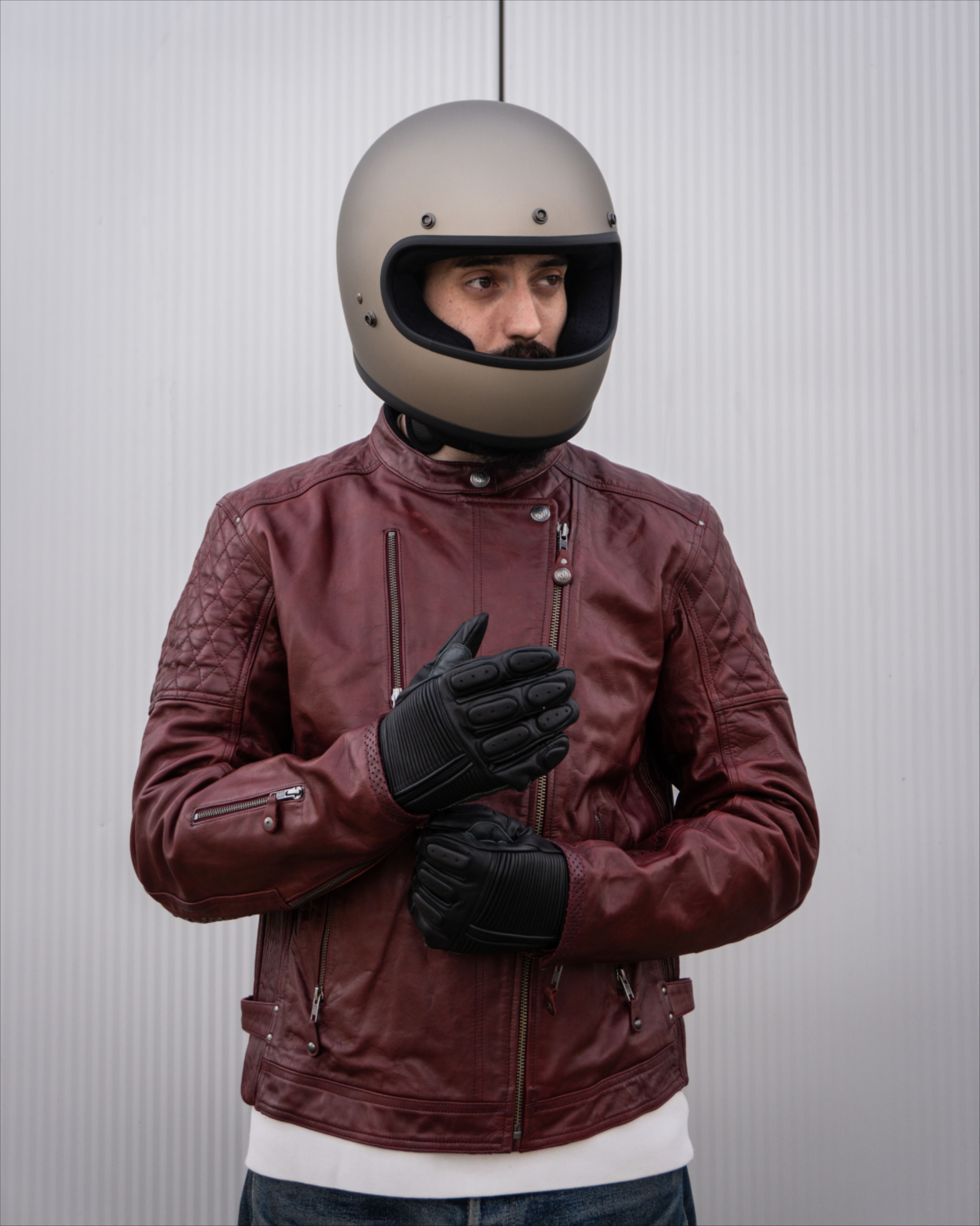 A classic motorcycle jacket from Roland Sands Design. One